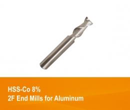 하이스 2날 알루미늄용 엔드밀 SKH59