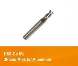 하이스 3날 알루미늄용 엔드밀 SKH59