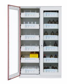 다목적철재보관함 약품장 철재시약장(전면 투시창)