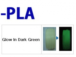 PLA - 필라멘트 Glow In Dark Green