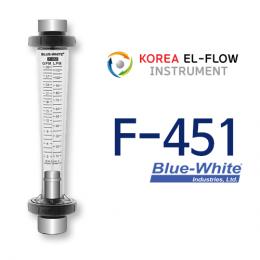 F-451, flowmeter, Blue-White, 부유식유량계