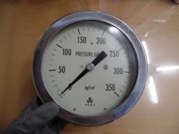 우진계기 압력게이지 PRESSURE GAUGE 350 kgf/cm²