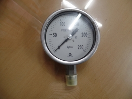 우진계기 압력게이지 WOOJIN PRESSURE GAUGE 250 kgf/cm²