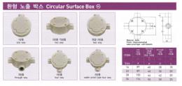 배관/전선관 - 환형노출박스(CircularSurfaceBox),노출배관/안전증/방폭형부속품