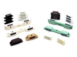 도어캐치(플라스틱) JDC-6K 특수형 흰색 [도어캐치/도어캣치/빠찌링/자석빠찌링/장롱자석/가구자석/자석]