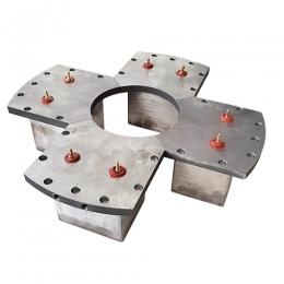 십자모양전자석 [오일냉각식전자석/오일냉각/전자석홀더/베드가공/전자석특수가공/중심간격]
