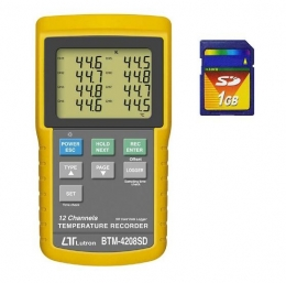 12채널 온도기록계 BTM-4208SD
