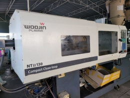 우진NT2 130톤 중고사출성형기   09년 호파로다 유도 주행 로보트포함 28파이  매매