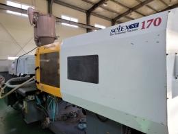 우진NT2 170톤 중고사출성형기  2007년식 호파 로다 유도슁 로보트 포함 32파이 매매